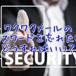ワクワクメールログイン用のパスワード確認について