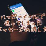 送ったメッセージの消し方(ハッピーメール)
